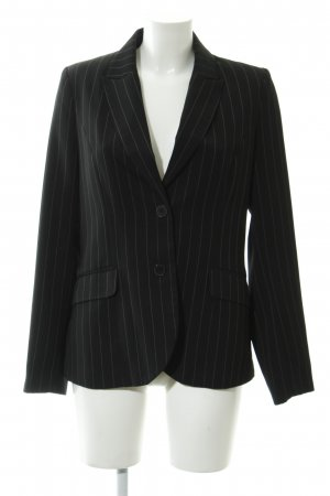 H&M Long-Blazer schwarz Nadelstreifen Business-Look