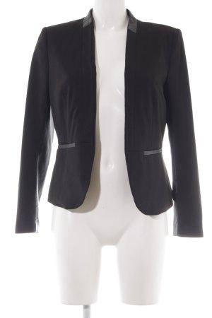 H&M Long-Blazer schwarz schlichter Stil