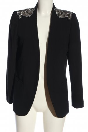 H&M Long-Blazer schwarz-silberfarben Business-Look