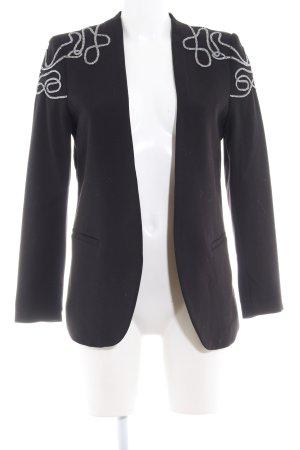 H&M Long-Blazer schwarz-silberfarben Elegant