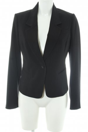 H&M Long-Blazer schwarz Streifenmuster Business-Look