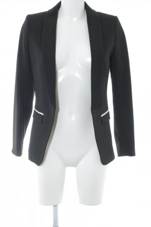 H&M Long-Blazer schwarz-weiß Business-Look