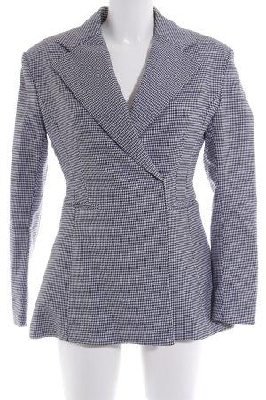 H&M Long-Blazer schwarz-weiß Hahnentrittmuster Casual-Look