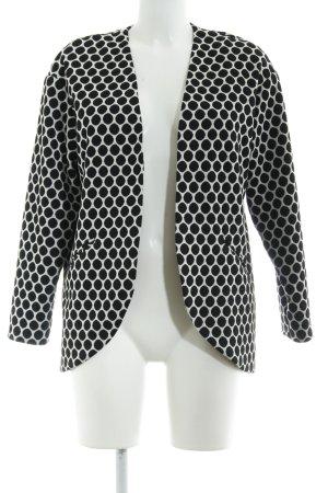 H&M Long-Blazer schwarz-weiß Punktemuster Boho-Look