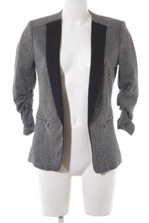 H&M Long-Blazer schwarz-weiß Zackenmuster Elegant