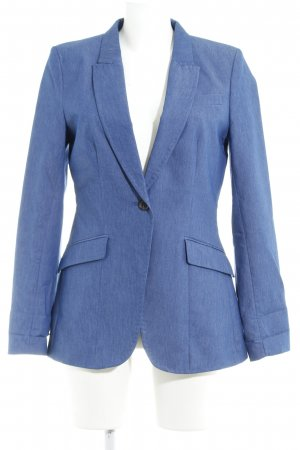 H&M Long-Blazer stahlblau Business-Look