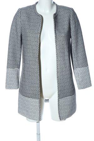 H&M Long-Blazer weiß-schwarz Allover-Druck Business-Look