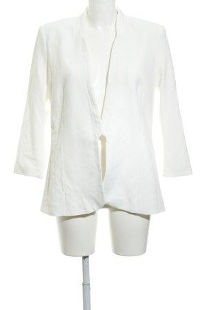 H&M Long-Blazer wollweiß klassischer Stil