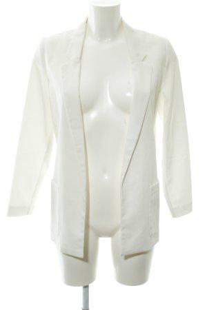 H&M Long-Blazer wollweiß schlichter Stil