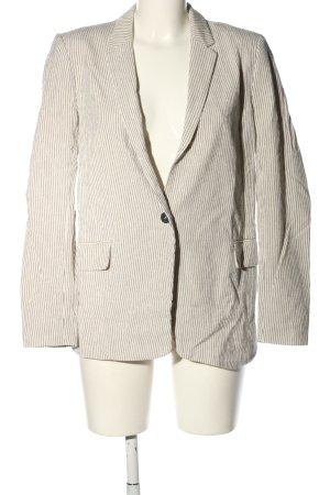 H&M Long-Blazer wollweiß Streifenmuster Business-Look