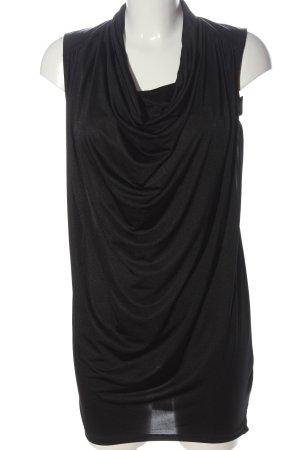 H&M Długa bluzka czarny Elegancki