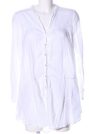H&M Camicetta lunga bianco stile casual