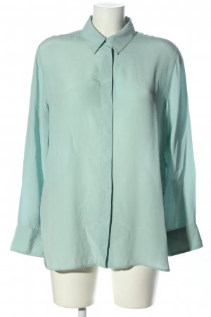 H&M Long-Bluse blau Business-Look