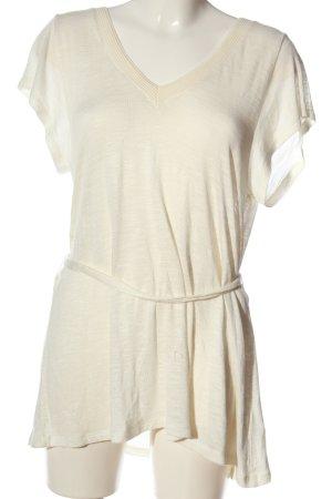 H&M Długa bluzka w kolorze białej wełny Melanżowy W stylu casual