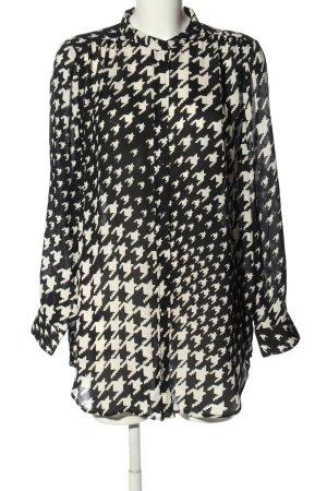 H&M Camicetta lunga nero-bianco sporco stampa integrale elegante