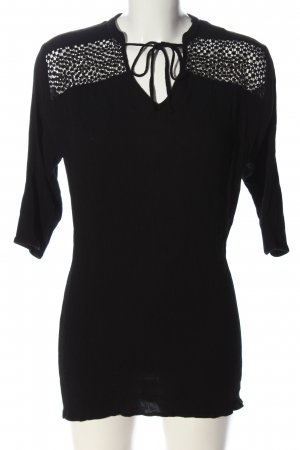 H&M Blusa larga negro look casual