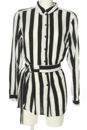 H&M Długa bluzka biały-czarny Na całej powierzchni W stylu casual