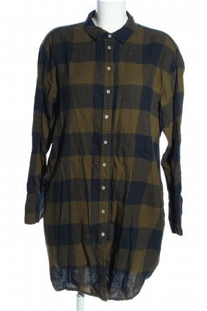 H&M Long-Bluse braun-blassgelb Karomuster Casual-Look