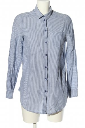 H&M Long-Bluse blau-hellgrau Streifenmuster Business-Look