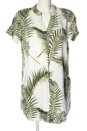 H&M Lange blouse wit-groen volledige print casual uitstraling