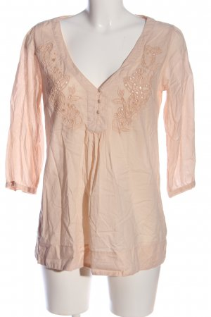 H&M Long Blouse pink embroidered lettering business style