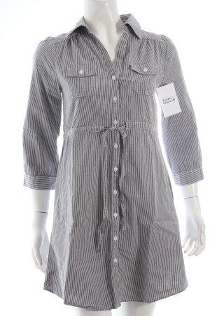 H&M Long-Bluse grau-weiß klassischer Stil