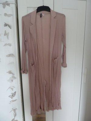 H&M Abrigo de punto rosa empolvado tejido mezclado