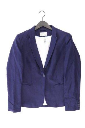 H&M Lange blazer blauw-neon blauw-donkerblauw-azuur