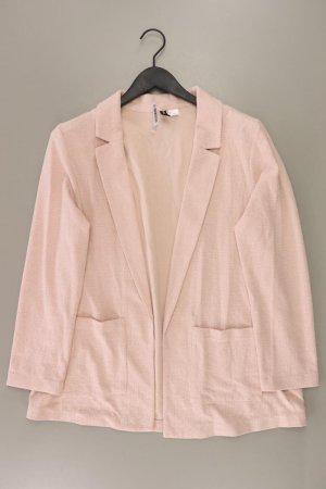 H&M Lange blazer stoffig roze-rosé-lichtroze-roze Katoen
