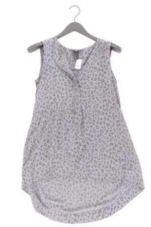 H&M Longbluse Größe 36 mit Tierdruck Ärmellos grau aus Polyester