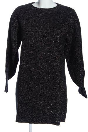 H&M Pulloverkleid schwarz meliert Casual-Look