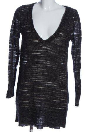 H&M Długi sweter czarny Melanżowy W stylu casual
