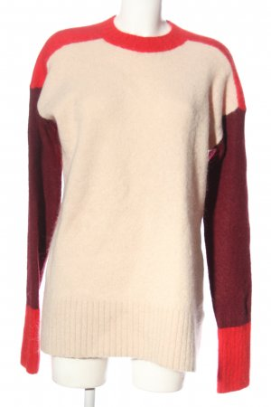 H&M Longpullover creme-pink Casual-Look