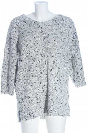 H&M Longpullover weiß-blau Casual-Look