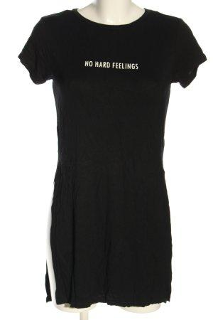 H&M Longshirt schwarz Schriftzug gedruckt Casual-Look