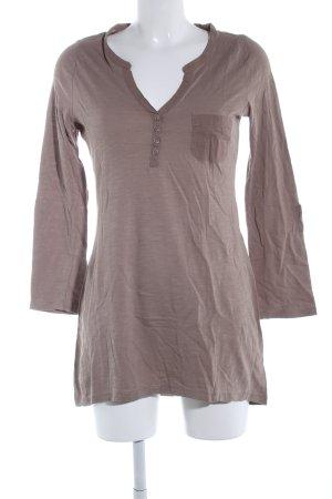H&M Longshirt braun Allover-Druck Casual-Look