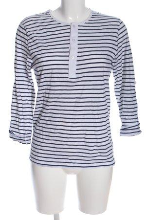 H&M Longshirt schwarz-weiß Streifenmuster Casual-Look