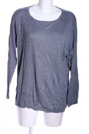 H&M Longshirt blau meliert Casual-Look