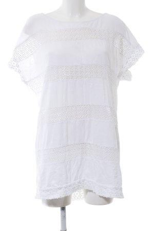 H&M Camisa larga blanco estampado a rayas estilo «business»