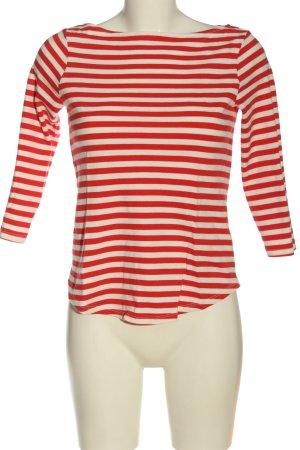 H&M Longsleeve rot-wollweiß Streifenmuster Casual-Look
