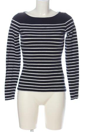 H&M Longsleeve schwarz-weiß Streifenmuster Casual-Look