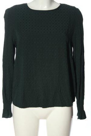 H&M Longsleeve grün Allover-Druck Casual-Look