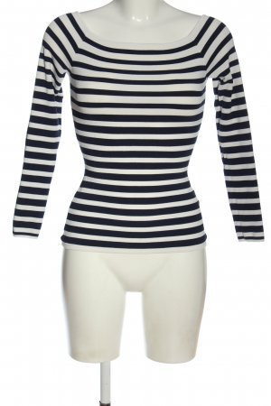 H&M Longsleeve schwarz-wollweiß Streifenmuster Casual-Look