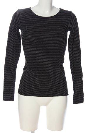 H&M Longsleeve schwarz-weiß Allover-Druck Casual-Look