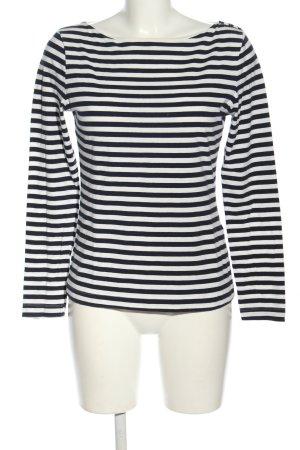 H&M Longsleeve blau-weiß Streifenmuster Casual-Look