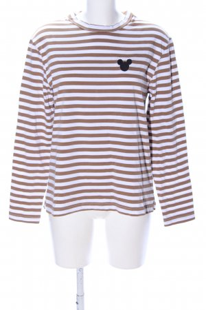 H&M Longsleeve braun-weiß Streifenmuster Casual-Look