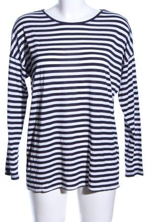 H&M Longsleeve dunkelblau-weiß Streifenmuster Casual-Look