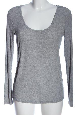 H&M Koszulka z długim rękawem jasnoszary Melanżowy W stylu casual