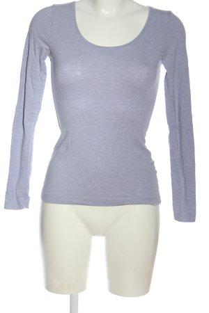 H&M Longsleeve blau meliert Casual-Look
