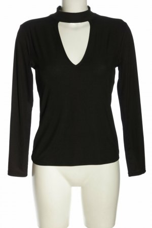 H&M Longsleeve Langarm Shirt schwarz Gr. 38 M